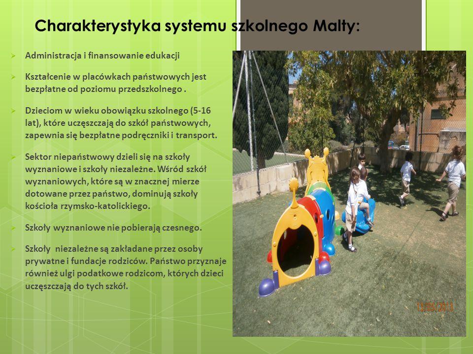 Charakterystyka systemu szkolnego Malty: