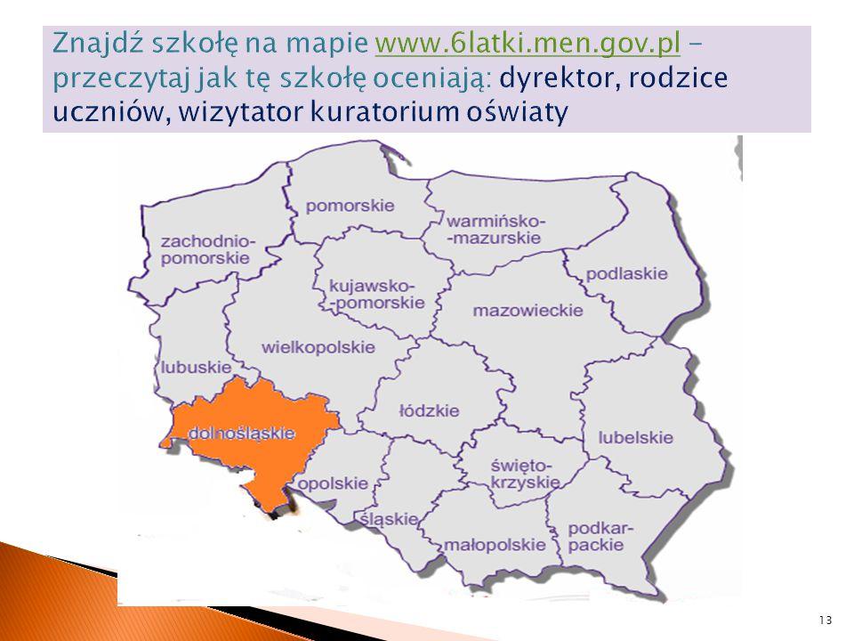 Znajdź szkołę na mapie www. 6latki. men. gov