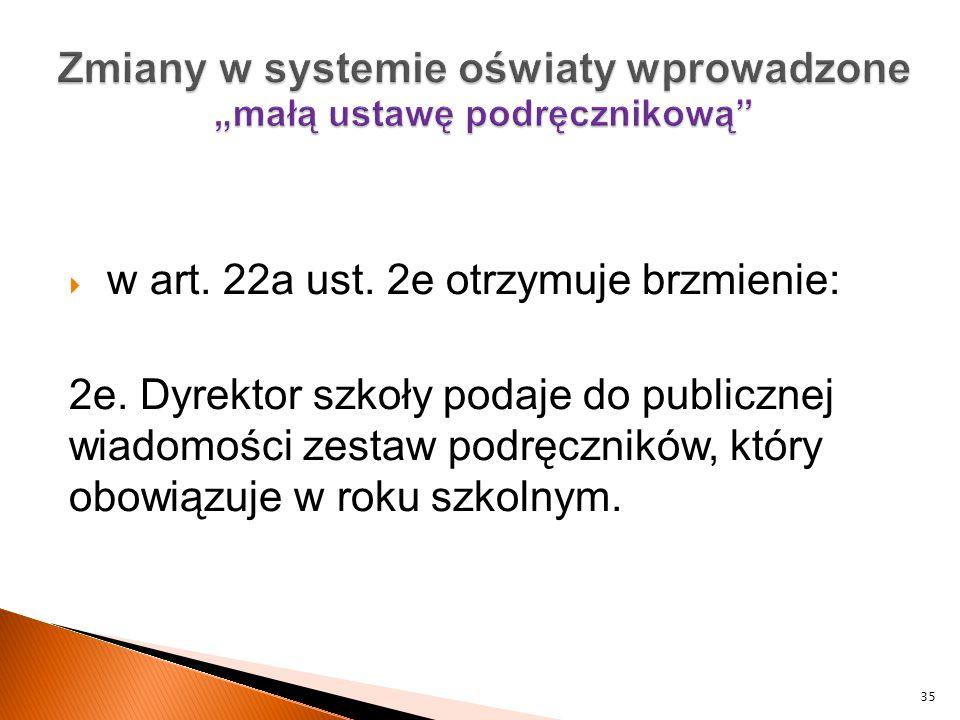 """Zmiany w systemie oświaty wprowadzone """"małą ustawę podręcznikową"""