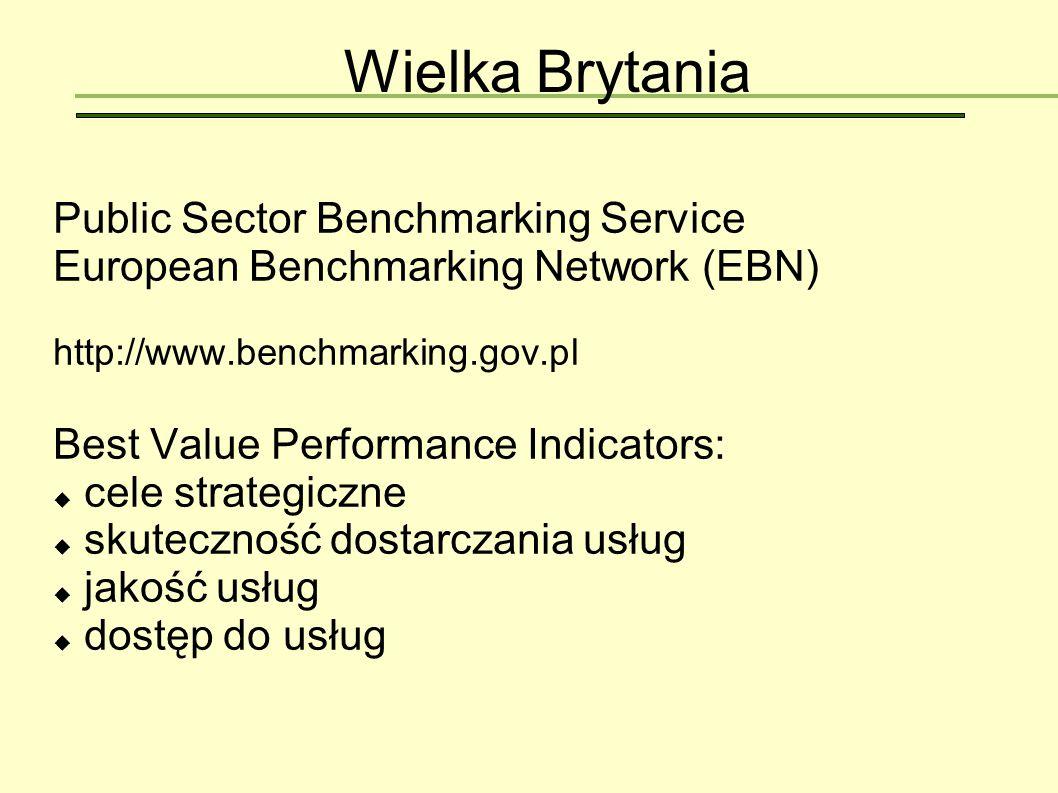 Wielka Brytania Public Sector Benchmarking Service