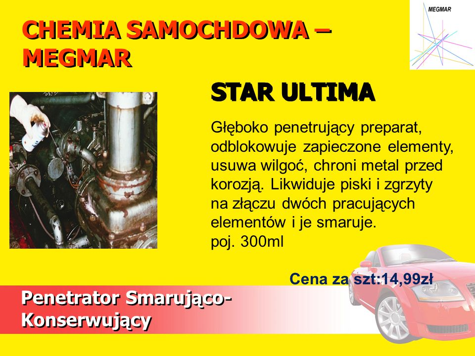 CHEMIA SAMOCHDOWA – MEGMAR