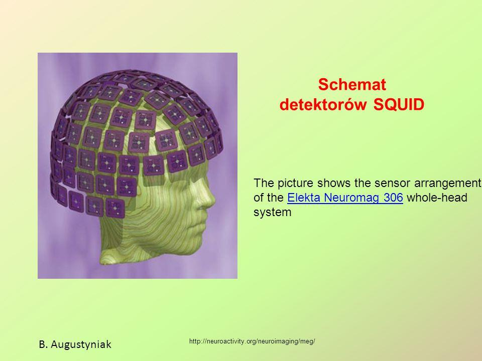 Schemat detektorów SQUID