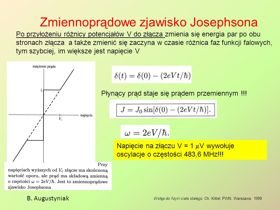 Zmiennoprądowe zjawisko Josephsona