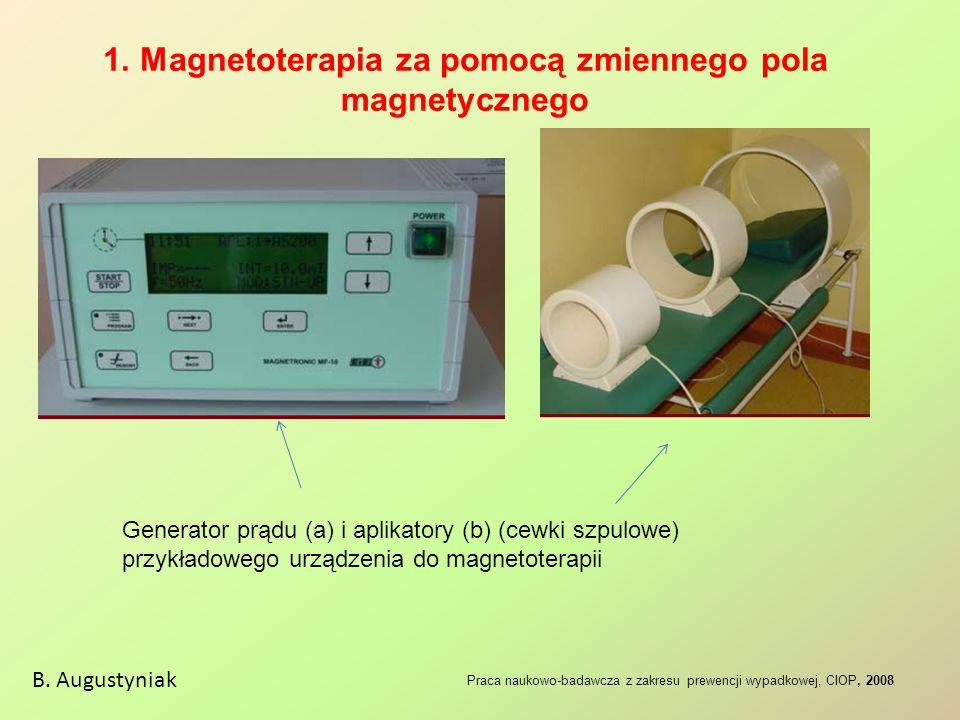 1. Magnetoterapia za pomocą zmiennego pola magnetycznego