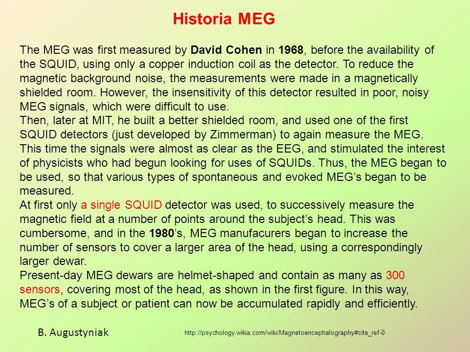 Historia MEG