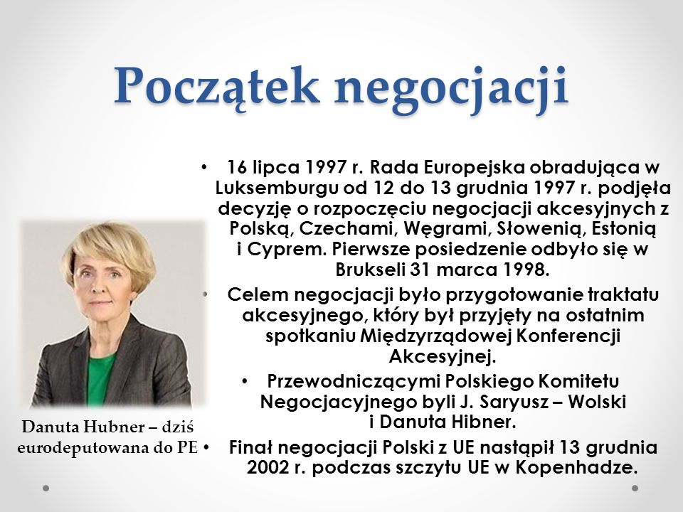 Danuta Hubner – dziś eurodeputowana do PE