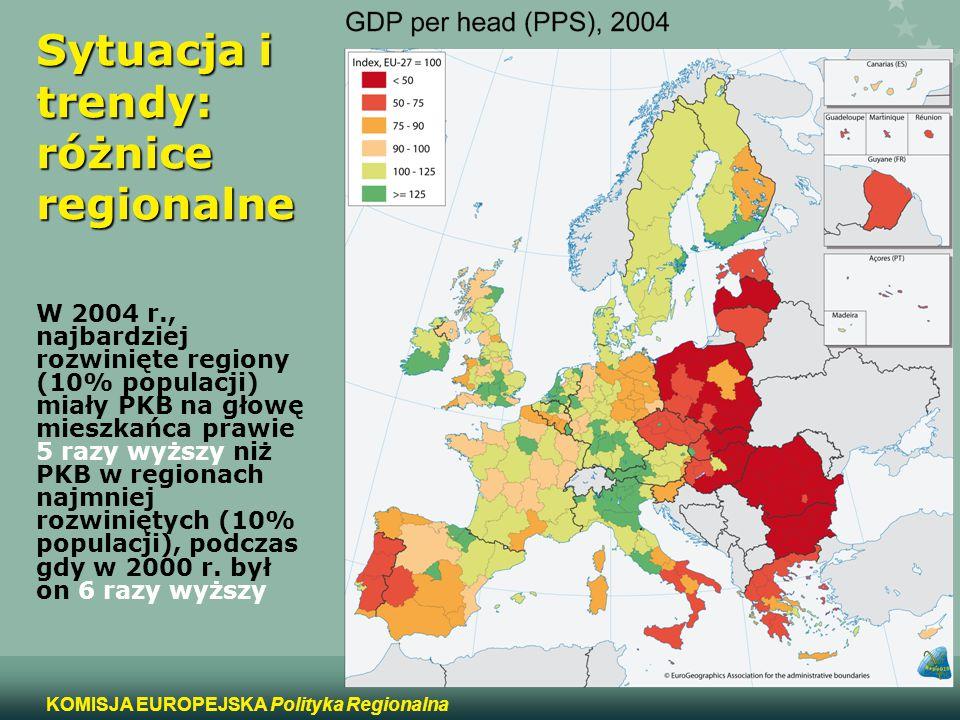 Sytuacja i trendy: różnice regionalne