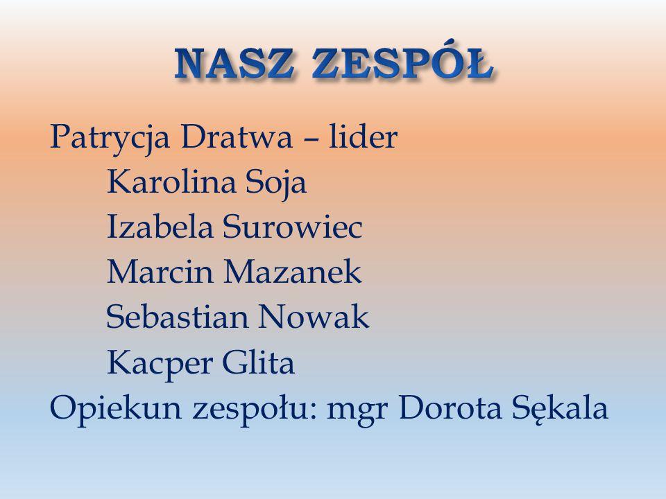 NASZ ZESPÓŁ Patrycja Dratwa – lider Karolina Soja Izabela Surowiec