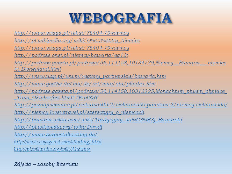 WEBOGRAFIA http://www.sciaga.pl/tekst/78404-79-niemcy
