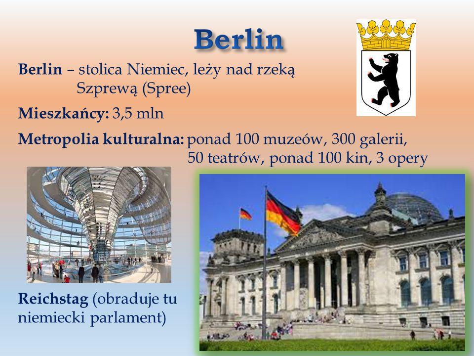 Berlin Berlin – stolica Niemiec, leży nad rzeką Szprewą (Spree)