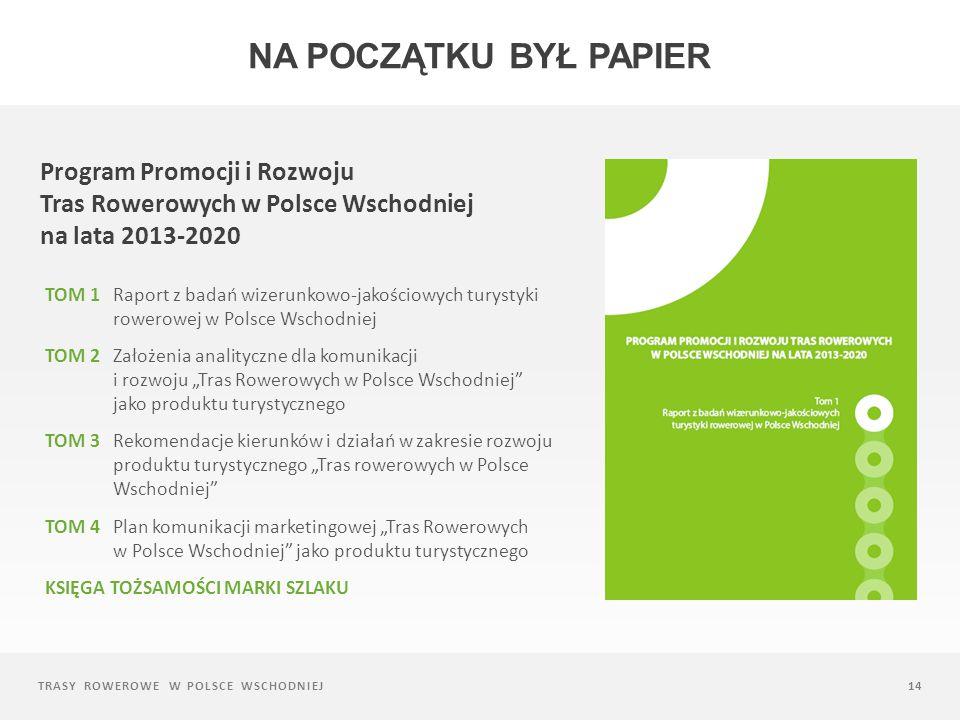 Na początku był papier Program Promocji i Rozwoju Tras Rowerowych w Polsce Wschodniej na lata 2013-2020.