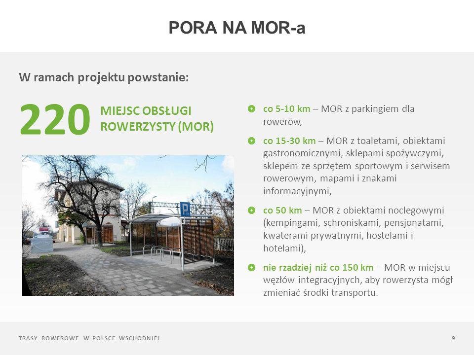 220 Pora na mor-a W ramach projektu powstanie: Miejsc Obsługi