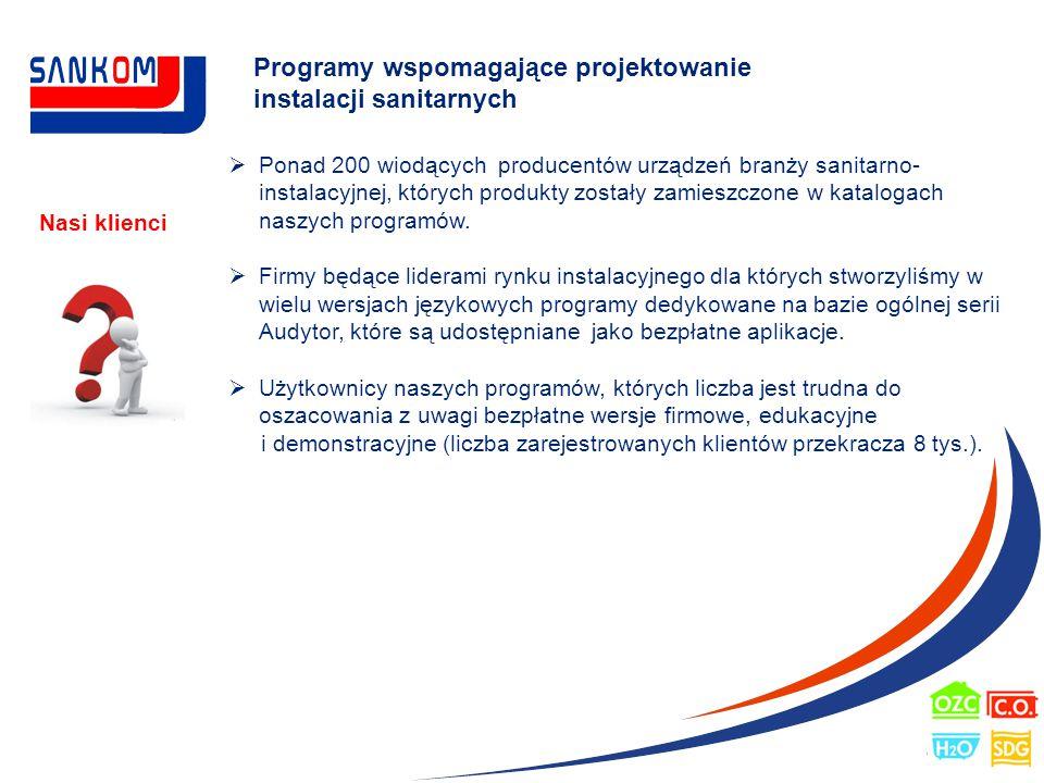 Programy wspomagające projektowanie instalacji sanitarnych
