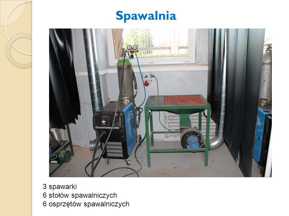 Spawalnia 3 spawarki 6 stołów spawalniczych 6 osprzętów spawalniczych