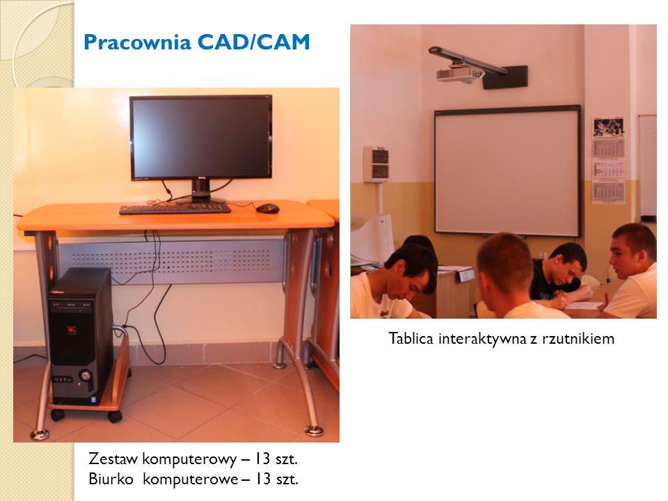 Pracownia CAD/CAM Tablica interaktywna z rzutnikiem