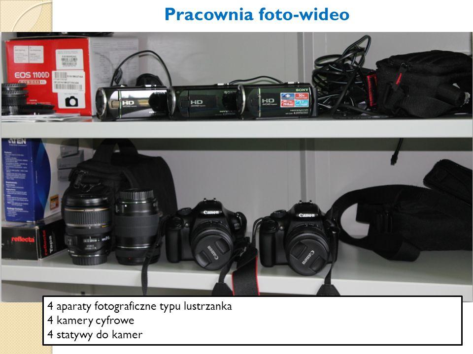 Pracownia foto-wideo 4 aparaty fotograficzne typu lustrzanka