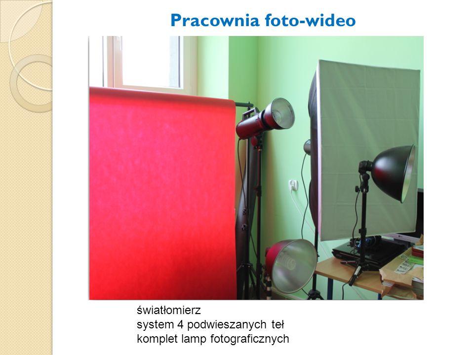 Pracownia foto-wideo światłomierz system 4 podwieszanych teł