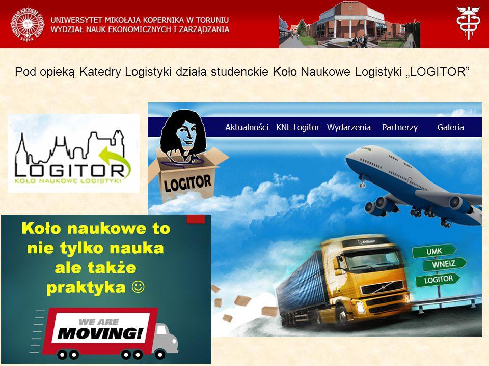 """Pod opieką Katedry Logistyki działa studenckie Koło Naukowe Logistyki """"LOGITOR"""