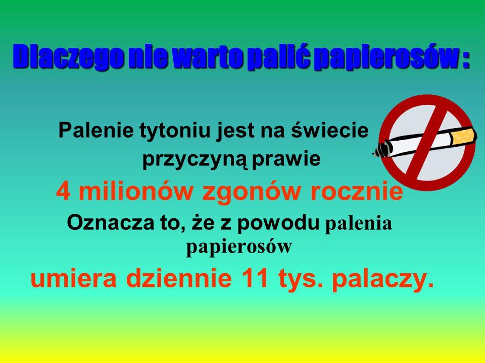 Dlaczego nie warto palić papierosów :