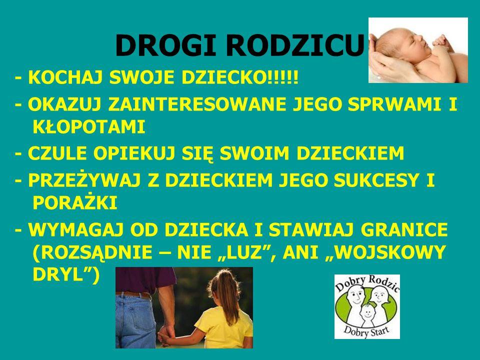 DROGI RODZICU - KOCHAJ SWOJE DZIECKO!!!!!