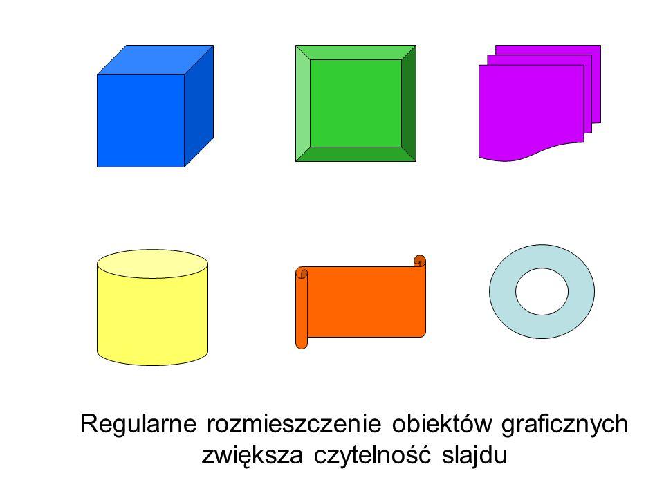 Regularne rozmieszczenie obiektów graficznych