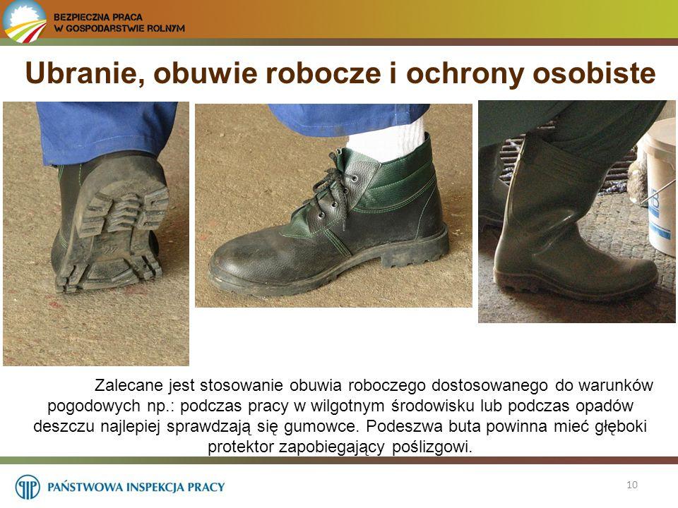 Ubranie, obuwie robocze i ochrony osobiste