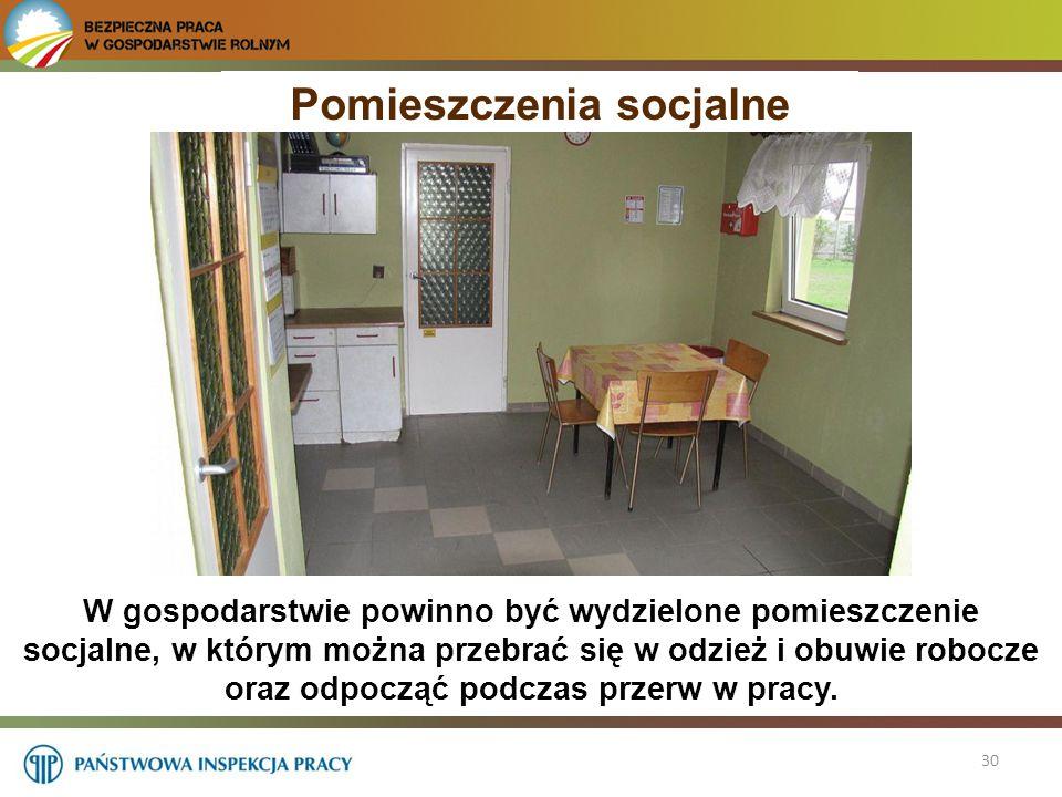 Pomieszczenia socjalne