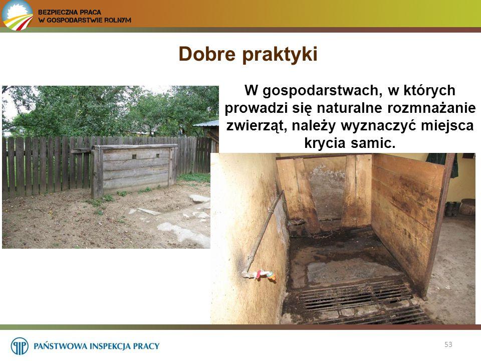 Dobre praktyki W gospodarstwach, w których prowadzi się naturalne rozmnażanie zwierząt, należy wyznaczyć miejsca krycia samic.