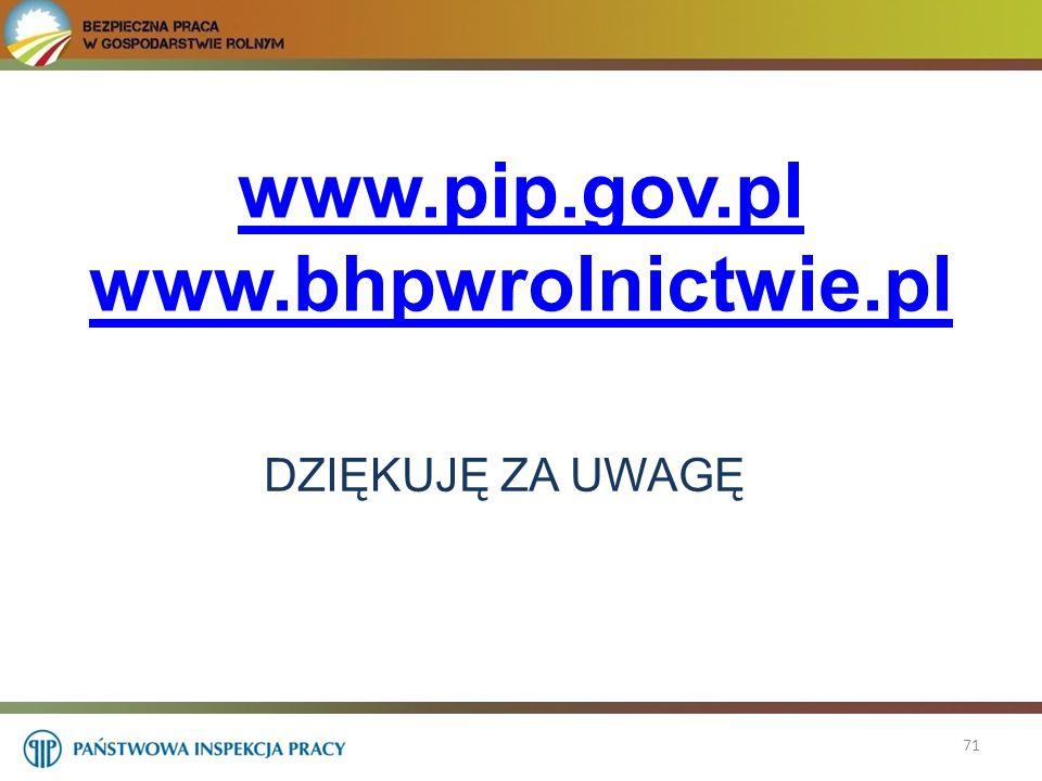 www.pip.gov.pl www.bhpwrolnictwie.pl