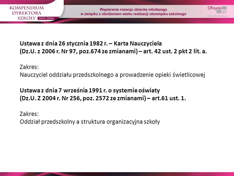 Ustawa z dnia 26 stycznia 1982 r. – Karta Nauczyciela