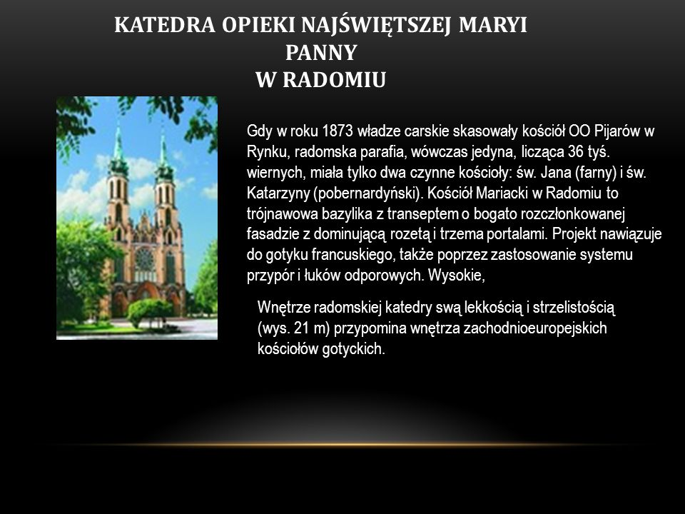 KATEDRA OPIEKI NAJŚWIĘTSZEJ MARYI PANNY