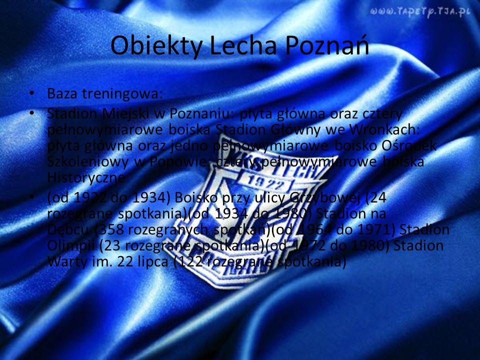 Obiekty Lecha Poznań Baza treningowa: