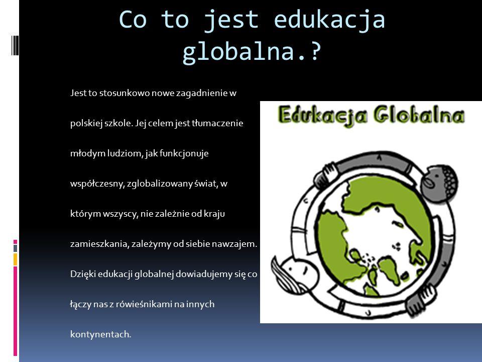 Co to jest edukacja globalna.