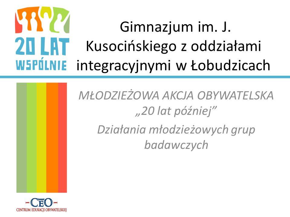 Gimnazjum im. J. Kusocińskiego z oddziałami integracyjnymi w Łobudzicach