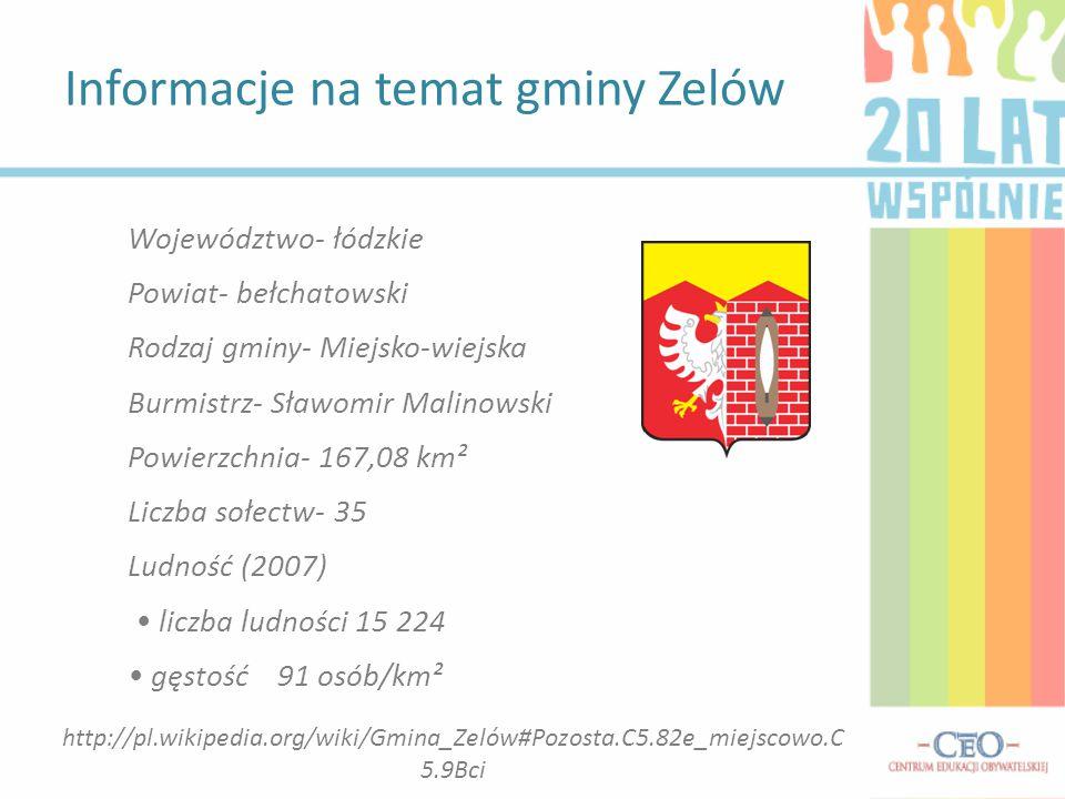 Informacje na temat gminy Zelów