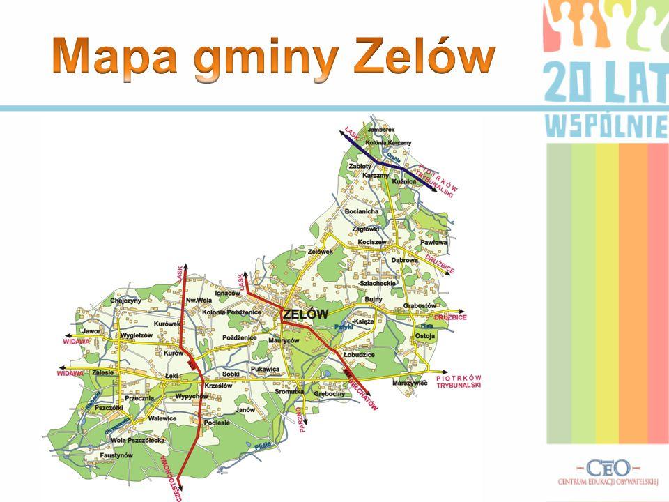 Mapa gminy Zelów