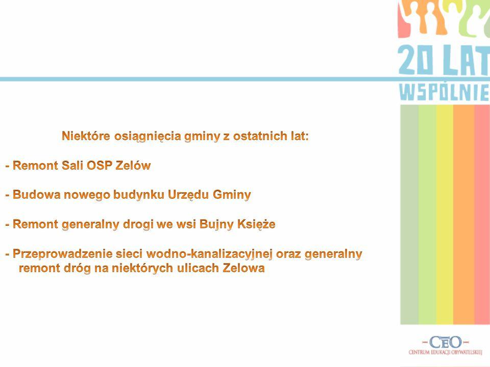 Niektóre osiągnięcia gminy z ostatnich lat: