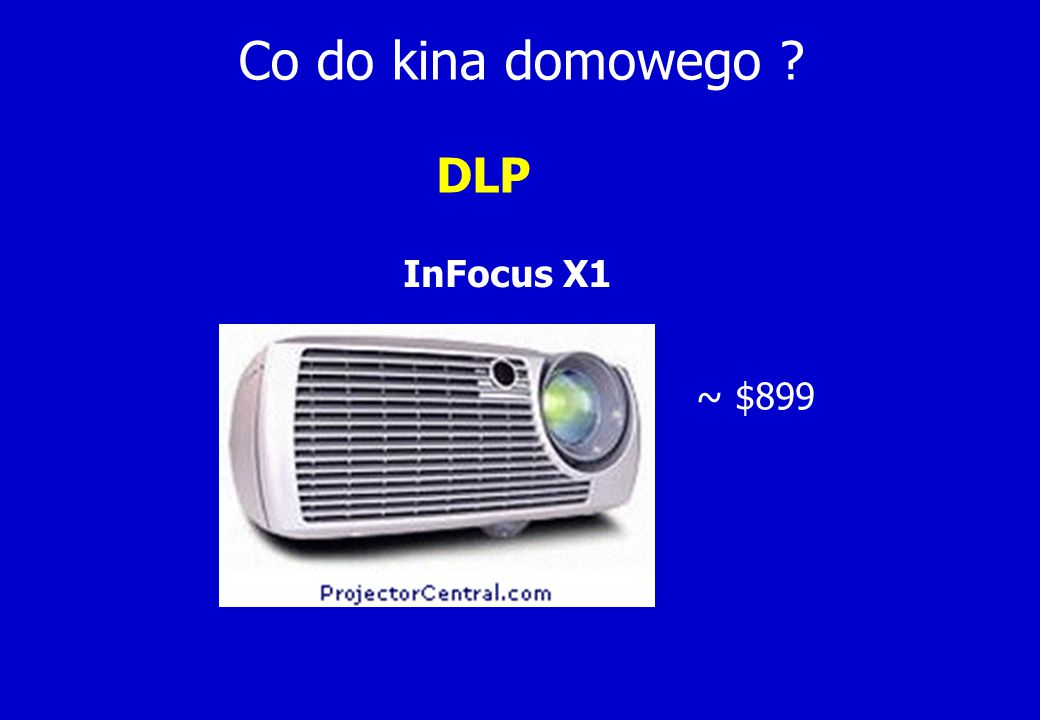 Co do kina domowego DLP InFocus X1 ~ $899