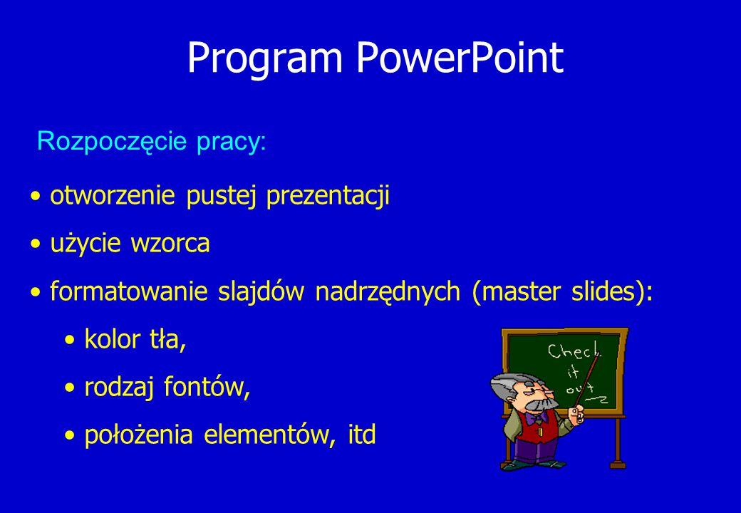 Program PowerPoint Rozpoczęcie pracy: otworzenie pustej prezentacji
