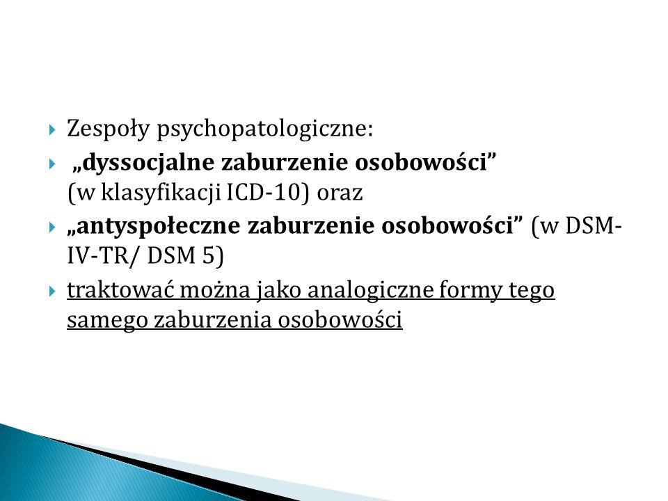 Zespoły psychopatologiczne: