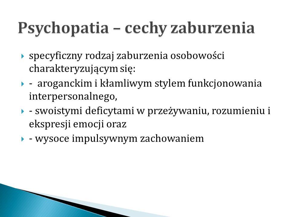 Psychopatia – cechy zaburzenia