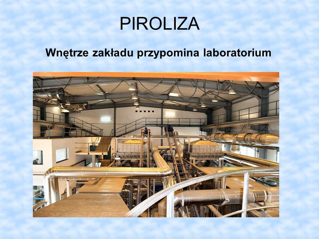 Wnętrze zakładu przypomina laboratorium