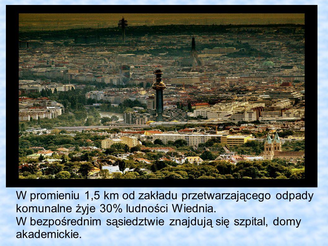 W promieniu 1,5 km od zakładu przetwarzającego odpady komunalne żyje 30% ludności Wiednia.