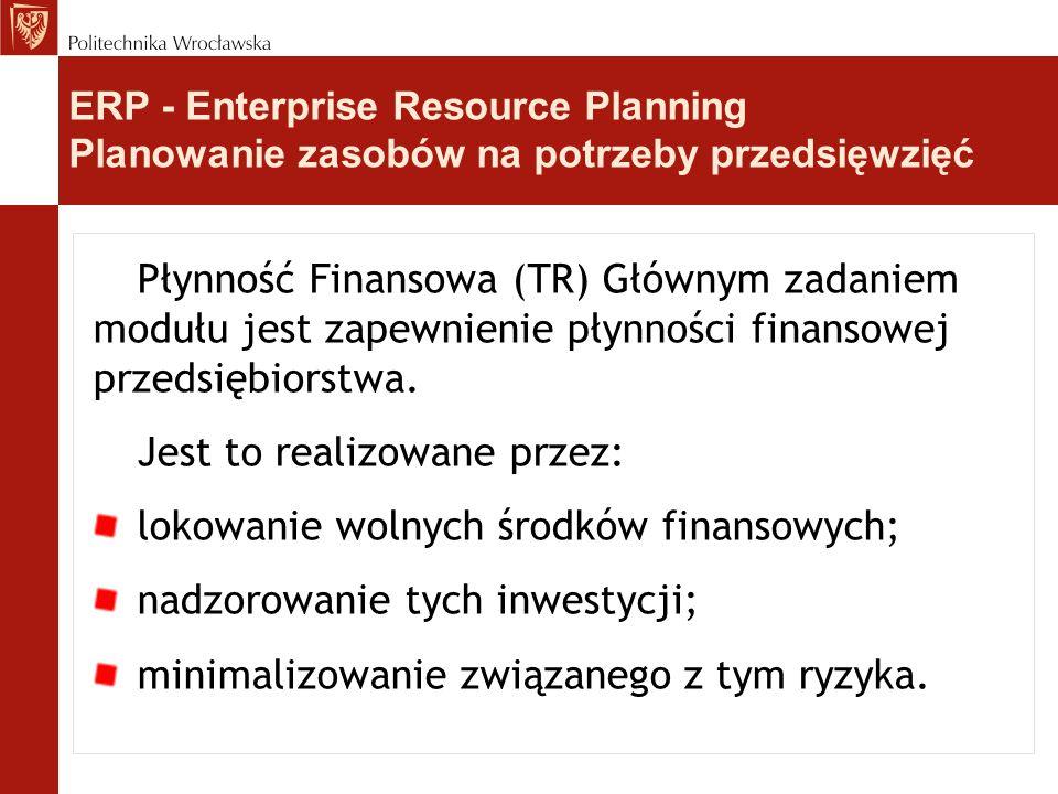 Jest to realizowane przez: lokowanie wolnych środków finansowych;