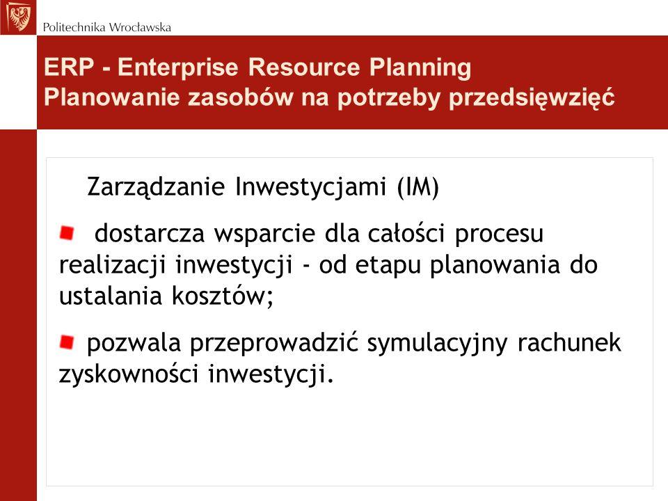 Zarządzanie Inwestycjami (IM)