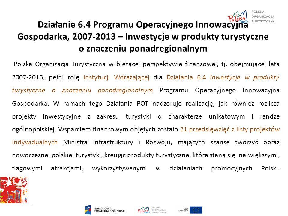 Działanie 6.4 Programu Operacyjnego Innowacyjna Gospodarka, 2007-2013 – Inwestycje w produkty turystyczne o znaczeniu ponadregionalnym