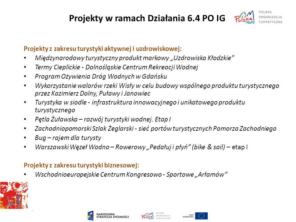 Projekty w ramach Działania 6.4 PO IG