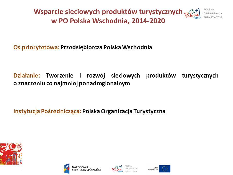Wsparcie sieciowych produktów turystycznych w PO Polska Wschodnia, 2014-2020