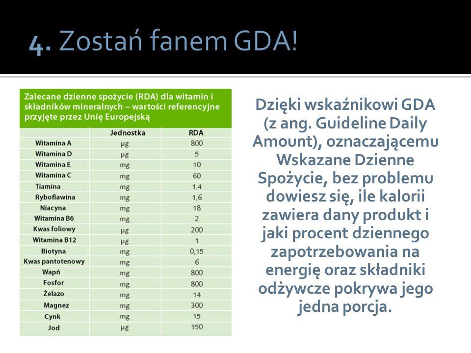 4. Zostań fanem GDA!