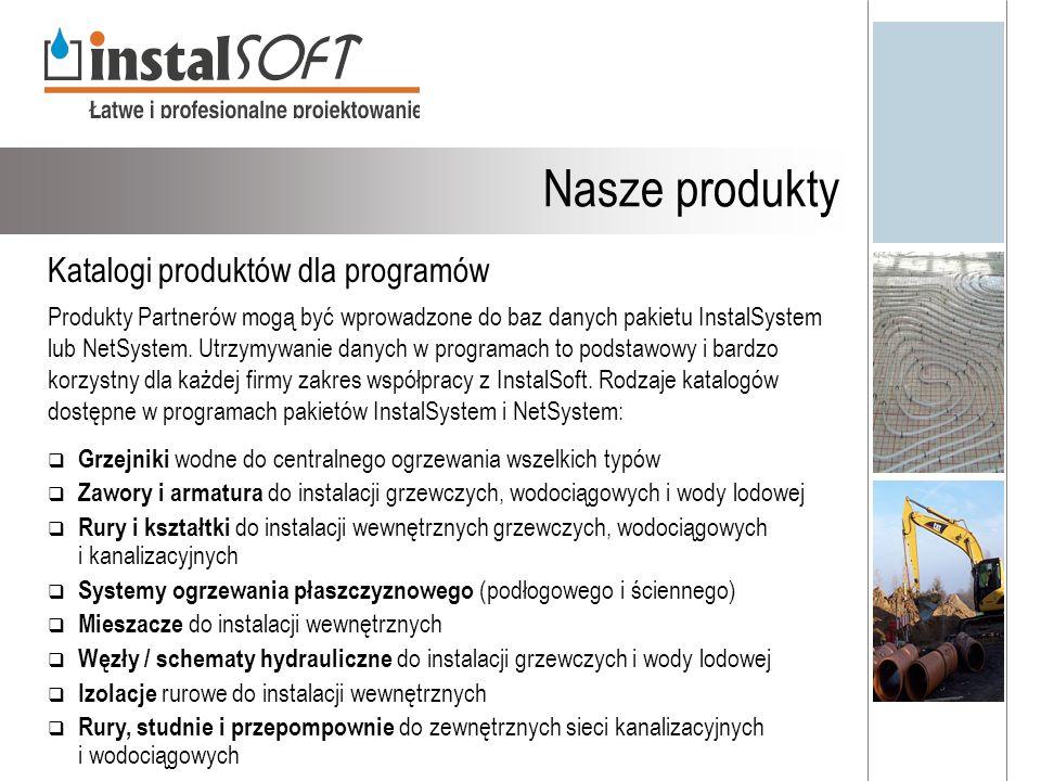 Nasze produkty Katalogi produktów dla programów
